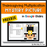 Thanksgiving Multiplication Mystery Picture 100 Chart Acti