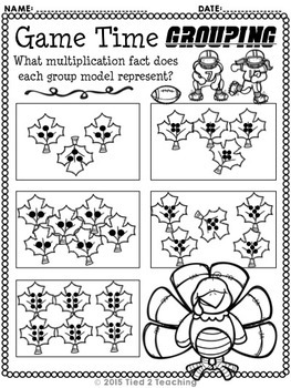 Thanksgiving Multiplication Printables