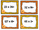 Thanksgiving Task Card Multiplication Problems