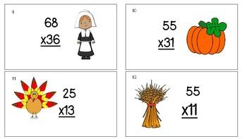 Thanksgiving Multiplication Scoot