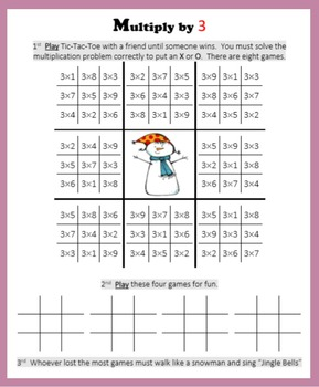 Christmas Multiplication (Tic-Tac-Toe)