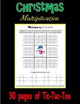 Christmas Multiplication (Tic-Tac-Toe)
