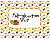 Thanksgiving Multiplication War (Common Core Aligned)