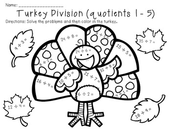 thanksgiving multiplication and division by the busy class tpt. Black Bedroom Furniture Sets. Home Design Ideas