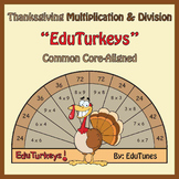 Thanksgiving 3rd Grade Math Interactive EduTurkeys / CCSS-Aligned / 62 Turkeys