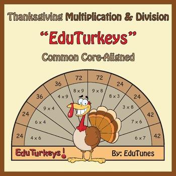 Thanksgiving 3rd Grade Math Interactive EduTurkeys / CCSS-