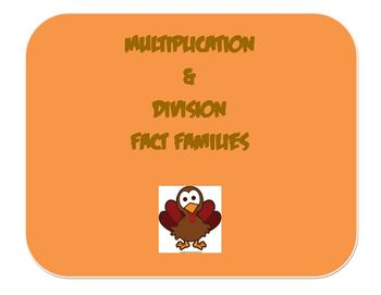 Thanksgiving Multiplication and Division Fact Families