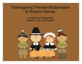 Thanksgiving Multiplication and Division Games