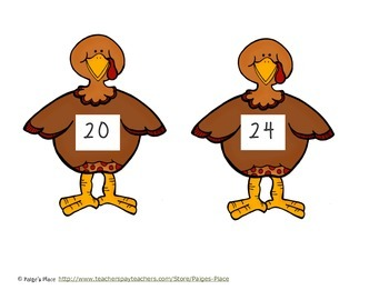 Thanksgiving Multiplication and Division Match-Up