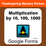 Thanksgiving: Multiplication by 10, 100, 1000 - Mystery Pi