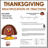 Thanksgiving Math Multiplication Fractions