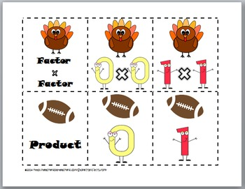Multiplication Practice with Doubles - Thanksgiving Math
