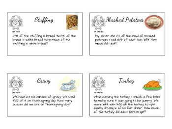 Thanksgiving: Multiply and Divide Fractions
