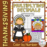 Thanksgiving Multiplying Decimals Color by Number