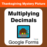 Thanksgiving: Multiplying Decimals - Mystery Picture - Goo