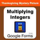 Thanksgiving: Multiplying Integers - Mystery Picture - Goo