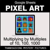 Thanksgiving: Multiplying by Multiples of 10, 100, 1000 - Pixel Art