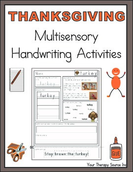 Thanksgiving Multisensory Handwriting Activity