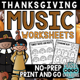 Thanksgiving Mega Pack of Music Worksheets