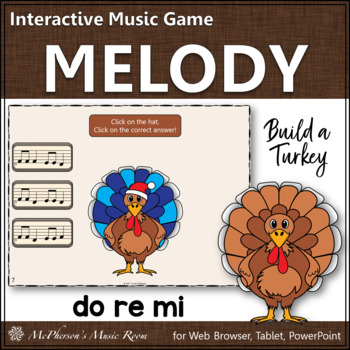 Thanksgiving Music Activity: Do Re Mi Interactive Melody Game {Build a Turkey}