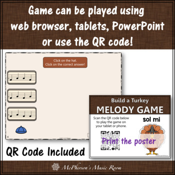 Thanksgiving Music Activity: Sol Mi Interactive Melody Game {Build a Turkey}