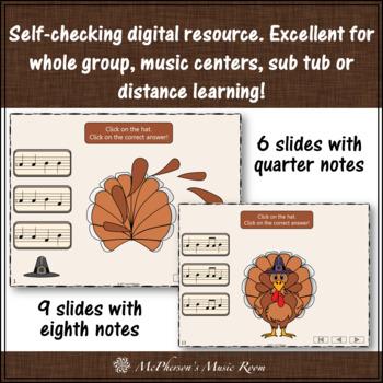 Thanksgiving Music Activity: Sol Mi La Interactive Melody Game {Build a Turkey}