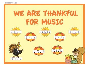Music Bulletin Board Kit for Thanksgiving & Fall