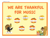 Music Bulletin Board Kit for Thanksgiving & Fall