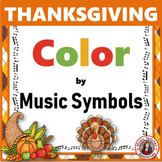 Thanksgiving Color by Music Note: 30 Thanksgiving Music Coloring Pages