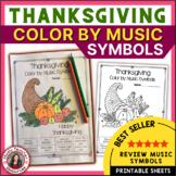 Thanksgiving Music Coloring Sheets: 30 Thanksgiving Music