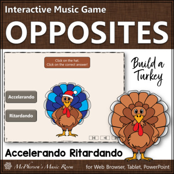 Thanksgiving Music Game Accelerando or Ritardando {Interactive Music Game}