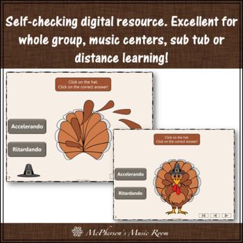 Thanksgiving Music Game Accelerando or Ritardando {Interactive Music Game}
