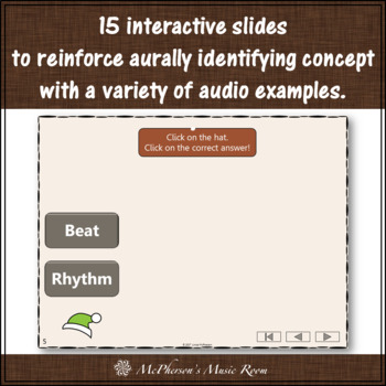 Thanksgiving Music Game Beat or Rhythm {Interactive Music Game Build a Turkey}