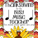 Thanksgiving Music Game Bundle Vol. 1: four games, zero prep!