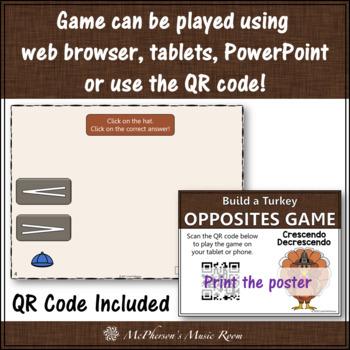 Thanksgiving Music Game Crescendo or Decrescendo {Interactive Music Game}