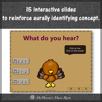 Thanksgiving Music Game ~ Eighth Notes Interactive Rhythm Game {Turkey Trot}