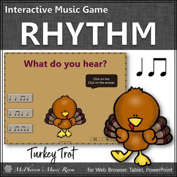 Thanksgiving Music Game ~ Eighth Notes Quarter Notes Rhythm Game {Turkey Trot}