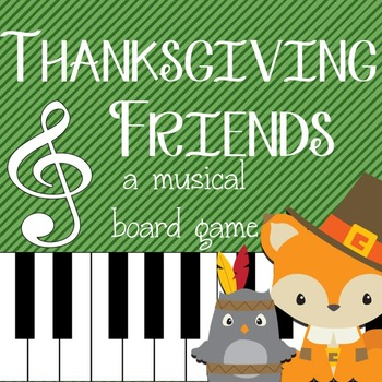 Thanksgiving Music Game: Grand Staff and Piano Keyboard