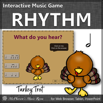 Thanksgiving Music Game ~ Half Notes Interactive Rhythm Game {Turkey Trot}