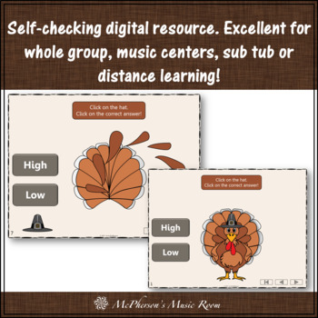Thanksgiving Music Game High or Low {Interactive Music Game Build a Turkey}