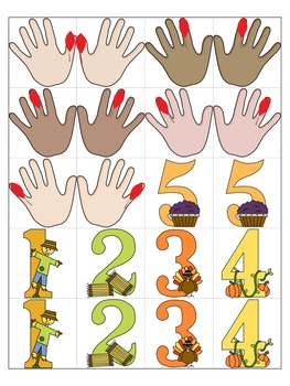 Thanksgiving Music Game: Piano Finger Numbers