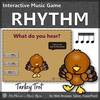 Thanksgiving Music Game ~ Sixteenth Notes Interactive Rhythm Game {Turkey Trot}