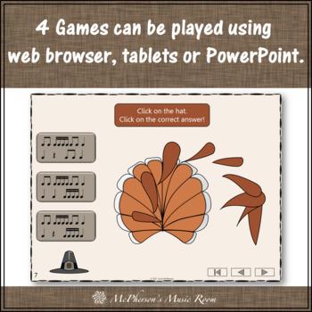Thanksgiving Music Games {Interactive Rhythm Games Build a Turkey} Bundle