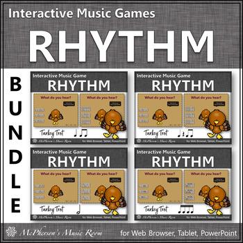 Thanksgiving Music Games ~ Interactive Rhythm Games {Turkey Trot}