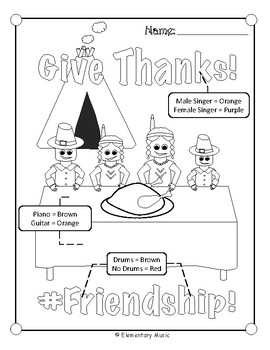 Thanksgiving Music Glyphs