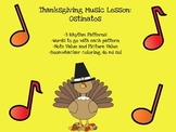 Thanksgiving Music Lesson: Ostinato and Boomwhackers