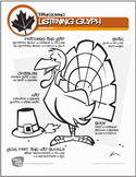 Thanksgiving Music Listening Glyph Worksheets (Digital Print)