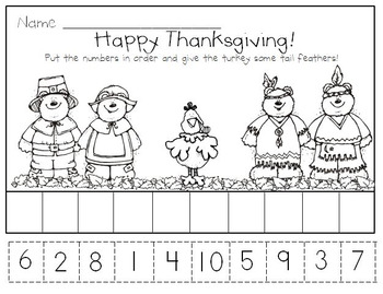 Thanksgiving Activities for Kindergarten * Initial Sounds * Rhyming * Patterns