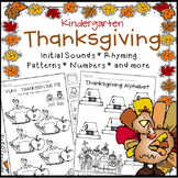 Thanksgiving Literacy and Math Activities for Kindergarten