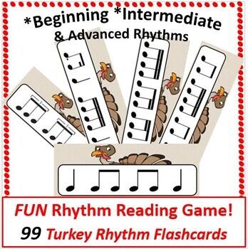 Thanksgiving Music Rhythm Cards & Game Bundled